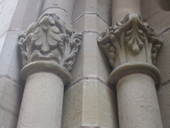 Eglise Saint-Martin - English: Capitals left the southern portal of collegiate Saint Martin, Brive la Gaillarde, Corrèze, Limousin, France