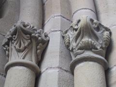 Eglise Saint-Martin - English: Capitals right the southern portal of collegiate Saint Martin, Brive la Gaillarde, Corrèze, Limousin, France