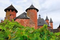Ancien hôtel Beaurival - English: view of Collonges la Rouge