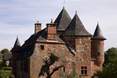Manoir de Vassinhac - English:  Collonges-la-Rouge; Limousin, Corrèze, France; ref PM_018587_F_Collonges_la_Rouge;;; Photographer: Paul M.R. Maeyaert; www.pmrmaeyaert.eu, © Paul M.R. Maeyaert; pmrmaeyaert@gmail.com; Cultural heritage; Europe/France/Collonges-la-Rouge