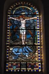 Eglise Saint-Martin - Deutsch: Katholische Kirche Saint-Martin in Donzenac im Département Corrèze (Nouvelle-Aquitaine/Frankreich), Bleiglasfenster von Louis Balmet, von 1927; mit der Signatur L. BALMET. 1927. GRENOBLE.