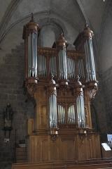 Ancienne abbaye Saint-André - Deutsch: Ehemalige Benediktiner-Abteikirche Saint-André-Saint-Léger in Meymac im Département Corrèze (Nouvelle-Aquitaine/Frankreich), Orgel