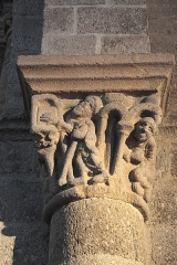 Eglise abbatiale Saint-André et Saint-Léger - Deutsch: Ehemalige Benediktiner-Abteikirche Saint-André-Saint-Léger in Meymac im Département Corrèze (Nouvelle-Aquitaine/Frankreich), Kapitell