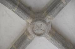 Ancien prieuré Saint-Michel des Anges - Deutsch: Ehemalige Prioratskirche Saint-Michel-des-Anges in Saint-Angel im Département Corrèze (Nouvelle-Aquitaine/Frankreich), Schlussstein