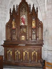 Eglise Saint-Cyr-Sainte-Julitte - Français:   Autel-retable de la chapelle nord, église Saint-Cyr-Sainte-Julitte, Saint-Cirgues-la-Loutre, Corrèze, France.