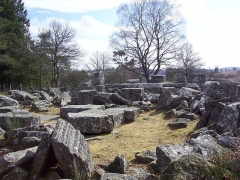 Ruines gallo-romaines des Cars - English: Ruins of a gallo-roman temple on the site of the Cars in the commune of Saint-Merd-les-Oussines.