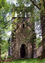 Chapelle de Glény -  Servières-le-Château, Corrèze (Limousin) - Façade principale de la chapelle de Glény