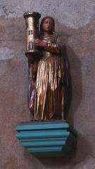 Cathédrale Saint-Martin, actuellement Notre-Dame et cloître, actuellement Musée municipal£ -  Statue de sainte Barbe dans la cathédrale Notre-Dame de Tulle