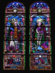 Cathédrale Saint-Martin, actuellement Notre-Dame et cloître, actuellement Musée municipal£ -  Cathédrale Notre-Dame de Tulle.Vitrail (XIXème siècle?): saint Martial et saint Martin.