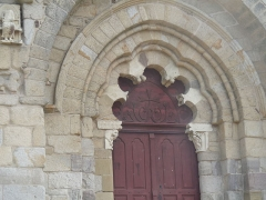 Eglise Saint-Pierre - portail polylobé  de l'abbatiale de Vigeois en Haute-Vienne