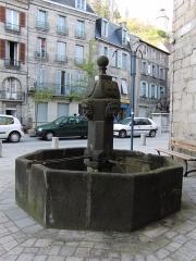 Maison dite des Vallenet - English: Aubusson fountain (The Vallenet fountain)