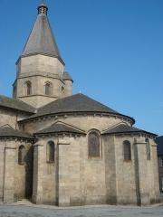 Eglise Saint-Barthélémy - English:   Bénévent-l\'Abbaye (Creuse, Fr), backside of the church