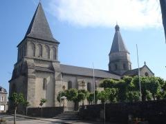Eglise Saint-Barthélémy - English:   Bénévent-l\'Abbaye (Creuse, Fr), church