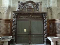 Eglise Saint-Barthélémy - Français:   Bénévent-l\'Abbaye - Église Saint-Barthélémy - Décor intérieur de l\'entrée de l\'église