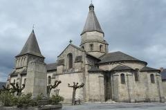 Eglise Saint-Barthélémy - Deutsch: Abteikirche Saint-Barthélémy in Bénévent-l'Abbaye im Département Creuse (Nouvelle-Aquitaine/Frankreich)