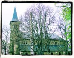 Ancienne église -  Flanc sud de l'église de Dun-le-Palestel (23).