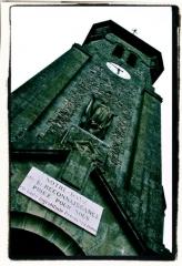 Ancienne église -  Tour-clocher de l'église de Dun-le-Palestel (23).