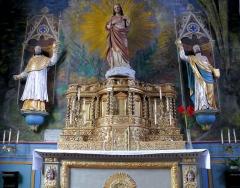Eglise Sainte-Valérie, dite église du Moutier - Français:   Felletin - Église Sainte-Valérie - Ancienne chapelle des Lissiers, chapelle du Sacré-Cœur - Tabernacle