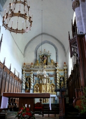 Eglise Sainte-Valérie, dite église du Moutier - Français:   Felletin - Église Sainte-Valérie - Choeur