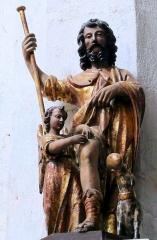Eglise Sainte-Valérie, dite église du Moutier - Français:   Felletin - Église Sainte-Valérie - Nef - Statue de saint Roch