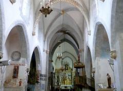 Eglise Sainte-Valérie, dite église du Moutier - Français:   Felletin - Église Sainte-Valérie - Nef
