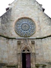 Eglise Sainte-Valérie, dite église du Moutier - Français:   Felletin - Église Sainte-Valérie - Transept nord - Portail