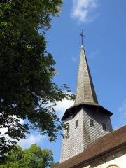Eglise de la Nativité de la Vierge -  Nouziers (Creuse, France) -  Le clocher de l'église.  .   .