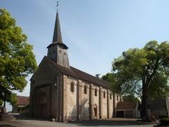 Eglise de la Nativité de la Vierge - English:  Nouziers, , France;; ref PM_092805_F_Nouziers;; Photographer: Paul M.R. Maeyaert; www.pmrmaeyaert.eu; © Paul M.R. Maeyaert; pmrmaeyaert@gmail.com; Cultural heritage; Europeana; Europe/France/Nouziers;