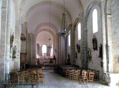 Eglise de la Nativité de la Vierge -  Nouziers (Creuse, France) -  L'église (intérieur de la nef).  .   .
