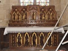 Eglise Saint-Martin - Français:   L\'autel-tabernacle du chœur, église de Vallière, Creuse, France.