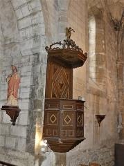 Eglise Saint-Martin - Français:   La chaire de l\'église, Vallière, Creuse, France.