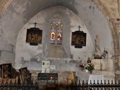 Eglise Saint-Martin - Français:   Chapelle latérale dans l\'église, Vallière, Creuse, France.