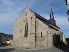 Eglise Saint-Martin - Français:   Le chevet de l\'église de Vallière, Creuse, France.