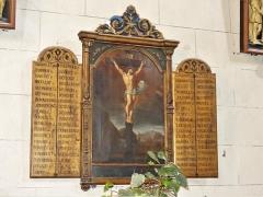 Eglise Saint-Martin - Français:   Mémorial dans l\'église, Vallière, Creuse, France.