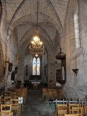 Eglise Saint-Martin - Français:   La nef de l\'église, Vallière, Creuse, France.