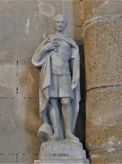 Eglise Saint-Martin - Français:   Statue représentant saint Expédit, église de Vallière, Creuse, France.