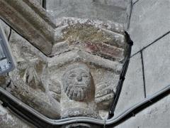 Eglise Saint-Martin - Français:   Chapiteau sculpté dans l\'église de Vallière, Creuse, France.