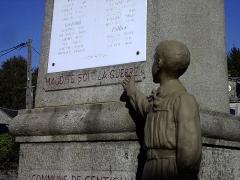 Monument aux morts -  gentioux maudite slg 56455