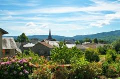 Eglise de la Nativité de la Très Sainte-Vierge - English: The town of Bersac seen from the path of Lage-Ponnet