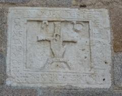 Eglise Saint-Léger - Français:   Pierre gravée en calcaire - Eglise St Léger de Bessines-sur-Gartempe