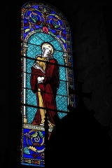 Eglise de l'Ordination de Saint-Martin - Deutsch: Katholische Kirche Saint-Martin-de-Tours in Eyjeauxim Département Haute-Vienne (Nouvelle-Aquitaine/Frankreich), Bleiglasfenster; Darstellung: Maria Magdalena