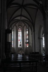 Eglise Saint-Etienne - Deutsch: Stiftskirche Saint-Étienne in Eymoutiers im Département Haute-Vienne (Nouvelle-Aquitaine/Frankreich), Innenraum