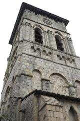 Eglise Saint-Etienne - Deutsch: Stiftskirche Saint-Étienne in Eymoutiers im Département Haute-Vienne (Nouvelle-Aquitaine/Frankreich), romanischer Glockenturm