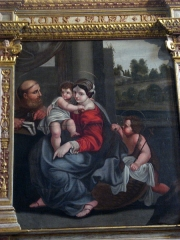 Eglise de l'Assomption de la Très-Sainte-Vierge - English: Flavignac_(Haute-Vienne,_Fr)_Painting_Holy_Family.JPG