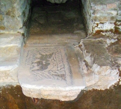 Ancienne abbaye Saint-Martial - English: Mosaic on tomb of St Martial, Limoges