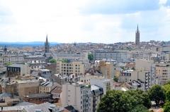Eglise Saint-Michel-des-Lions - Français:   Vue sur le centre-ville de Limoges depuis le campanile de la gare.