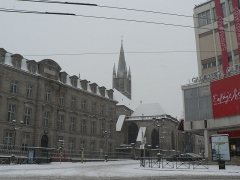 Lycée Gay-Lussac - English: Limoges (Haute-Vienne, Limousin, France) : Carrefour Tourny under the snow.
