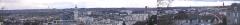 Lycée Gay-Lussac -  Panorama de la ville de Limoges:  De gauche à droite: Le Sablard, le stede et le quartier de St-Lazare, la tour de télécommunications et le centre commercial de Boisseuil, le chantier de la clinique Chénieux, la gare, les Portes Ferrées, la cathédrale, le Luk Hotel, le lycée Gay-Lussac, l'église St-Pierre du Queyroix, la mairie, l'église St-Michel des Lions, la caserne Marceau
