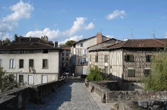 Pont Saint-Martial -  Maisons à colombages près du pont Saint Martial