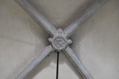 Eglise Saint-Martin - Deutsch: Katholische Kirche Saint-Martin in Linards im Département Haute-Vienne (Nouvelle-Aquitaine/Frankreich), Schlussstein